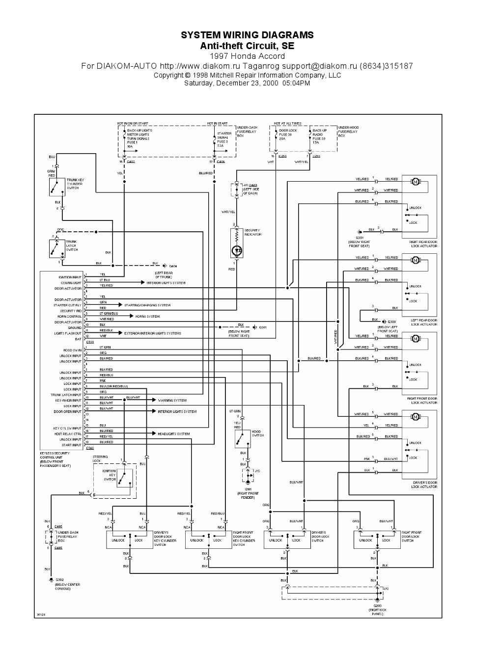 1996 honda accord ignition wiring diagram Download-Honda Wiring Diagrams Lovely 1994 Honda Accord Wiring Diagram & Honda Civic Ignition Wiring 14-i