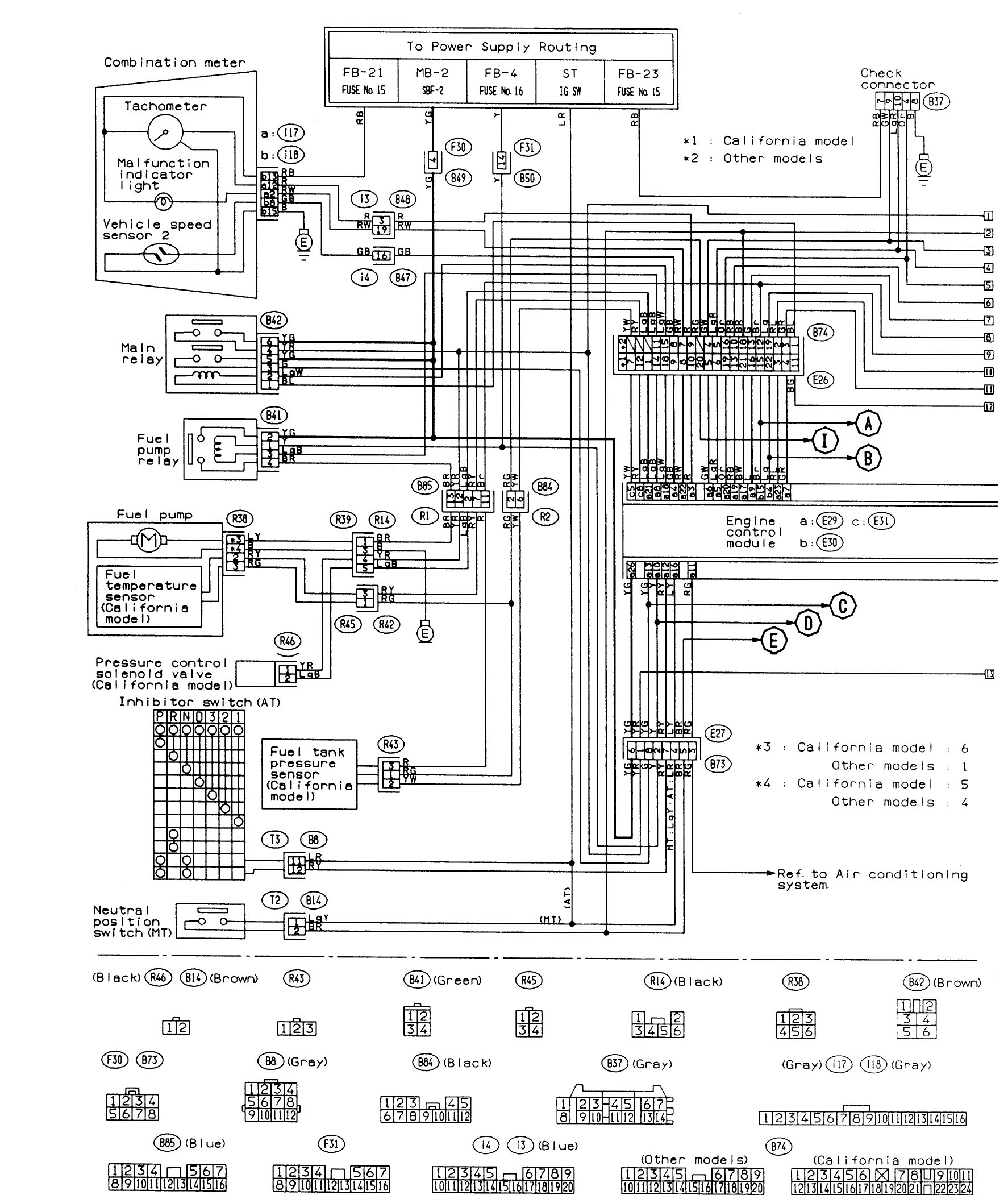 Gallery Of 2001 Subaru Outback Wiring Diagram Download