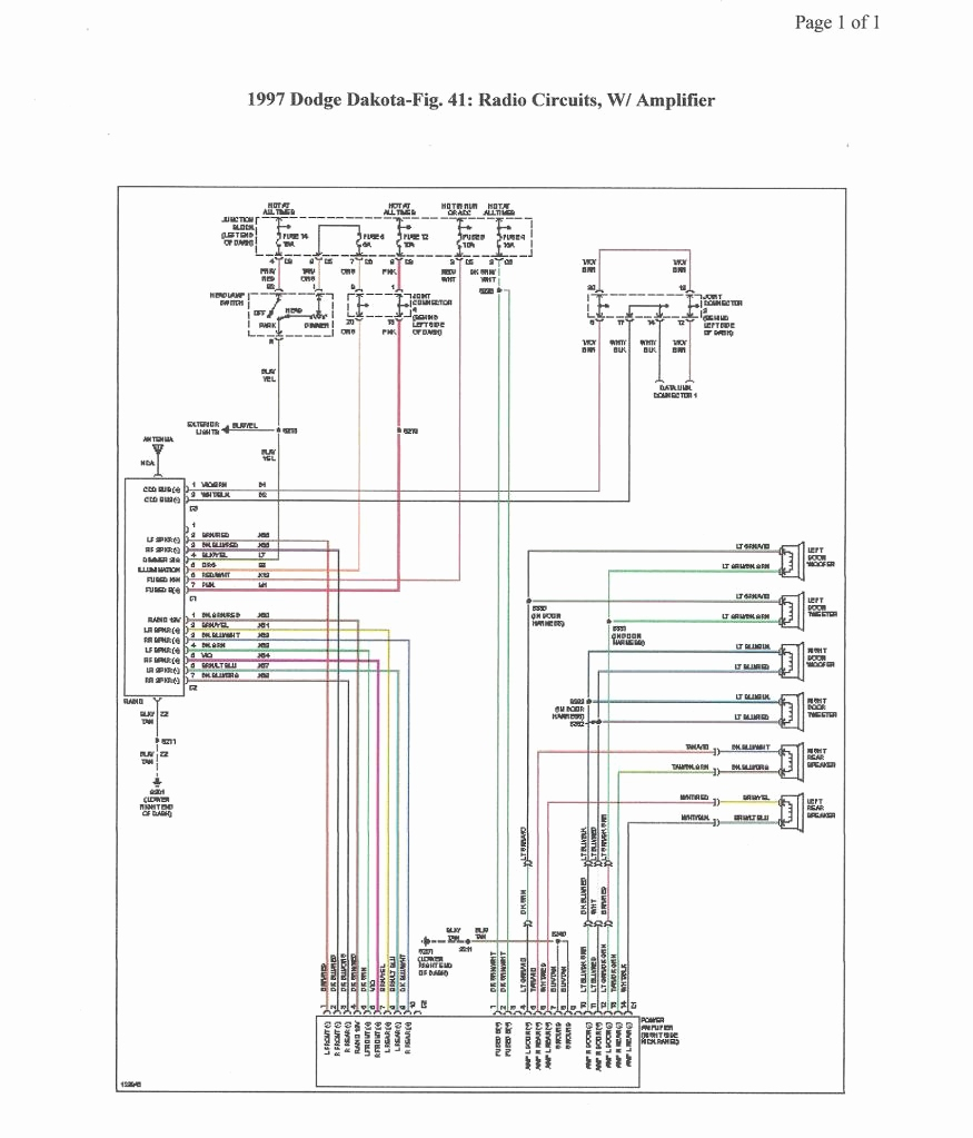Radio Wiring Diagram For Dodge Dakota on