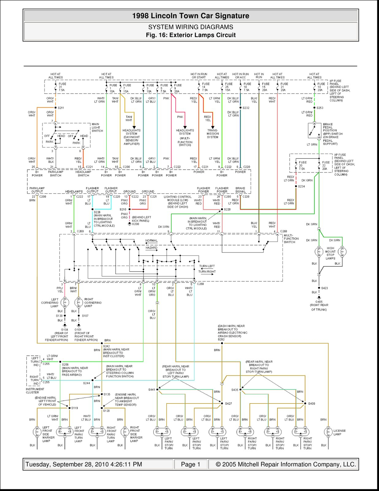 1998 lincoln town car radio wiring diagram free download 2004 Lincoln Town Car Radio Wiring Diagram 95 lincoln town car stereo wiring