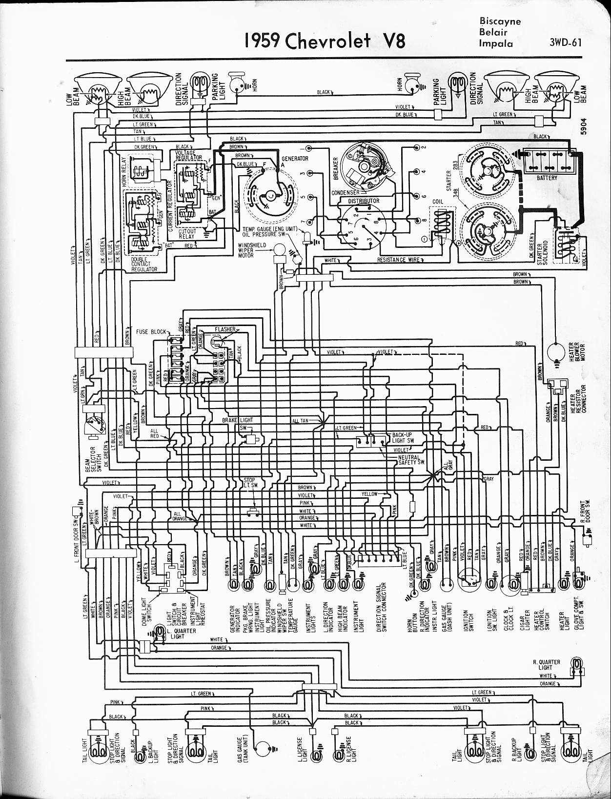 2005 impala ignition switch wiring diagram Collection-1959 V8 Biscayne Belair Impala 12-j