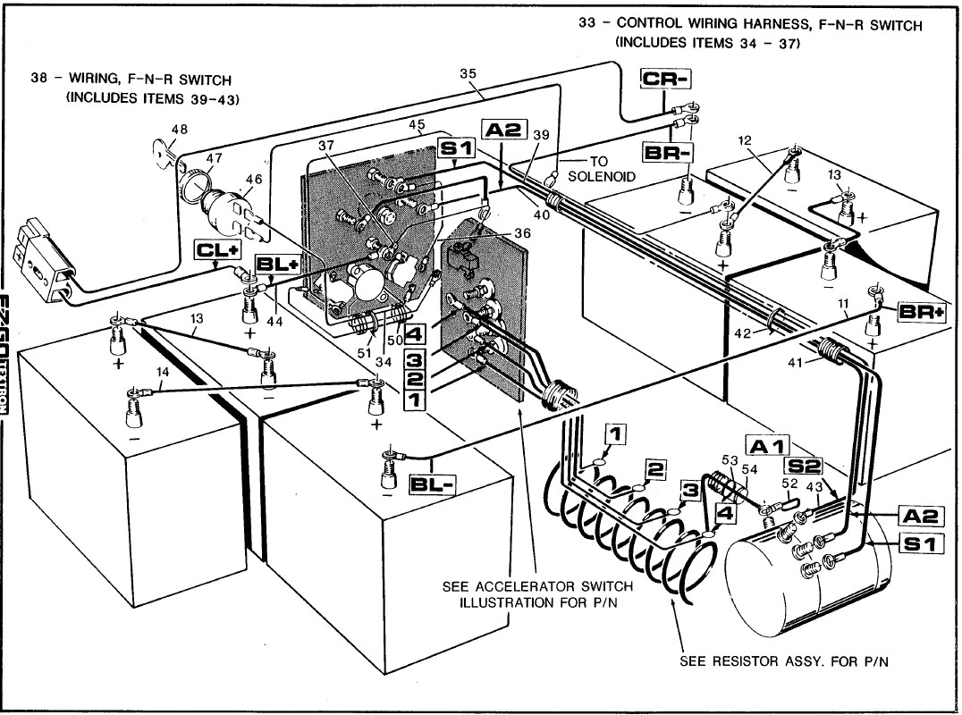 1994 ezgo 36 volt wiring diagram all wiring diagram 24 Volt Battery Wiring Diagram
