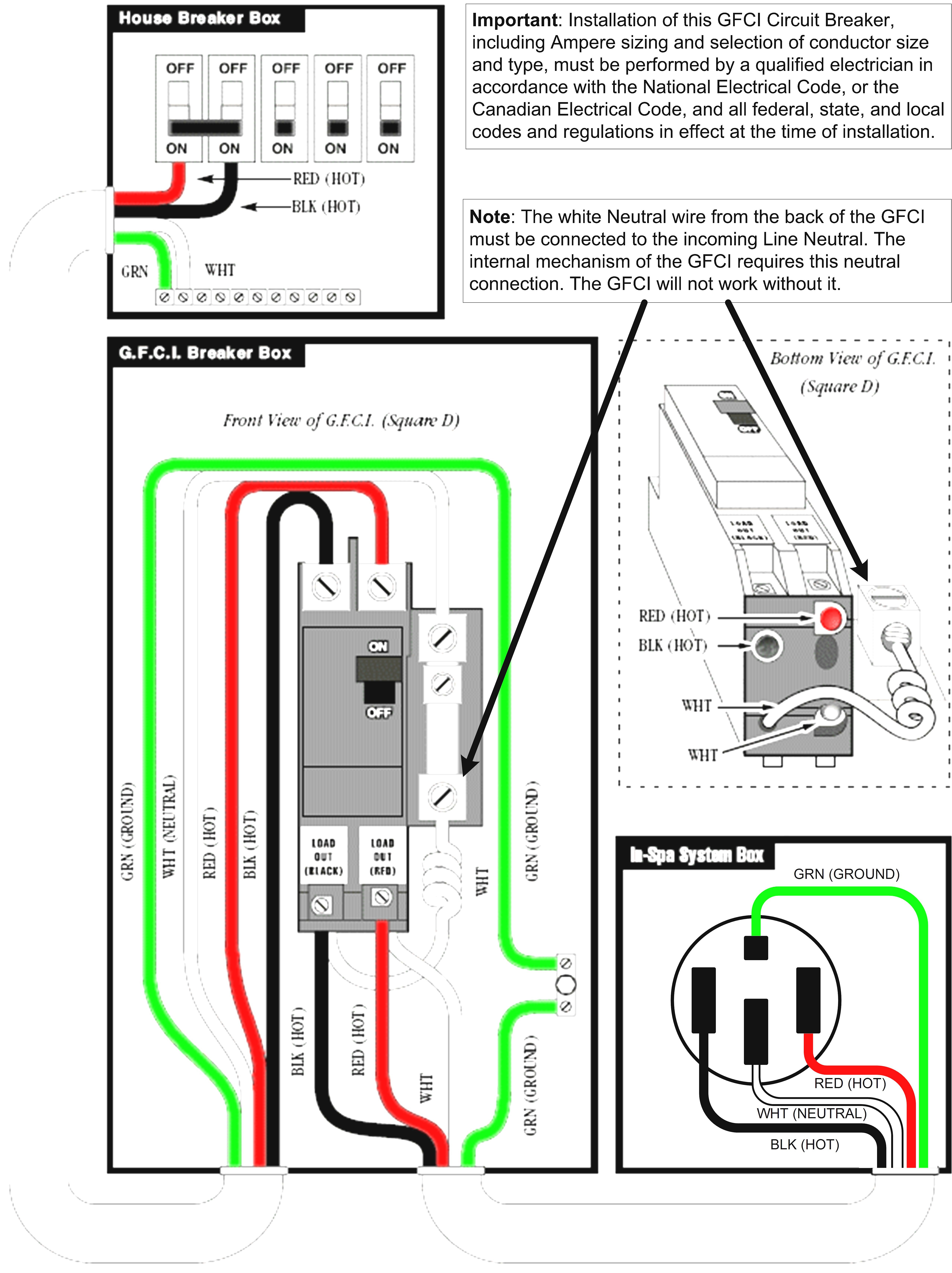 Find Out Here 50 Amp Square D Gfci Breaker Wiring Diagram