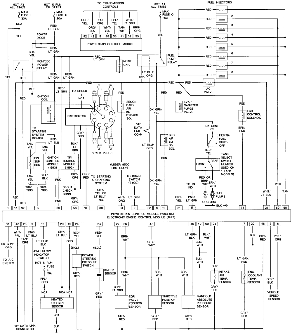 95 ford f150 ignition wiring diagram Collection-1989 ford F150 Ignition Wiring Diagram 1989 ford Bronco Wiring Diagrams Wiring Diagram 1994 ford 9-d