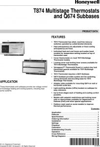 Aaon Rk Series Wiring Diagram - Bryant thermostat Q674 Users Manual 60 2485 T874 Multistage thermostats and Subbases 20a