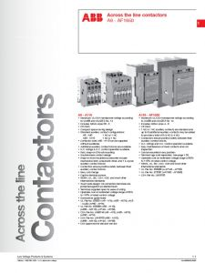 Abb A16 30 10 Wiring Diagram - Abb Across the Line Cont Actors Mains Electricity 11k