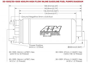 Aem Water Methanol Kit Wiring Diagram - Aem 400lph High Flow In Line Fuel Pump 4f