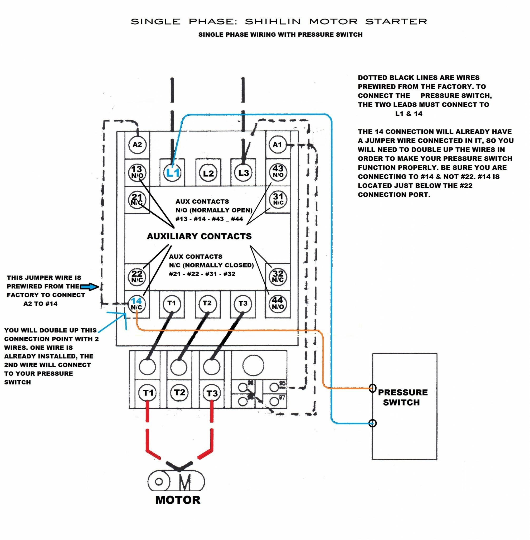 Wiring Diagram Airpressor Motor