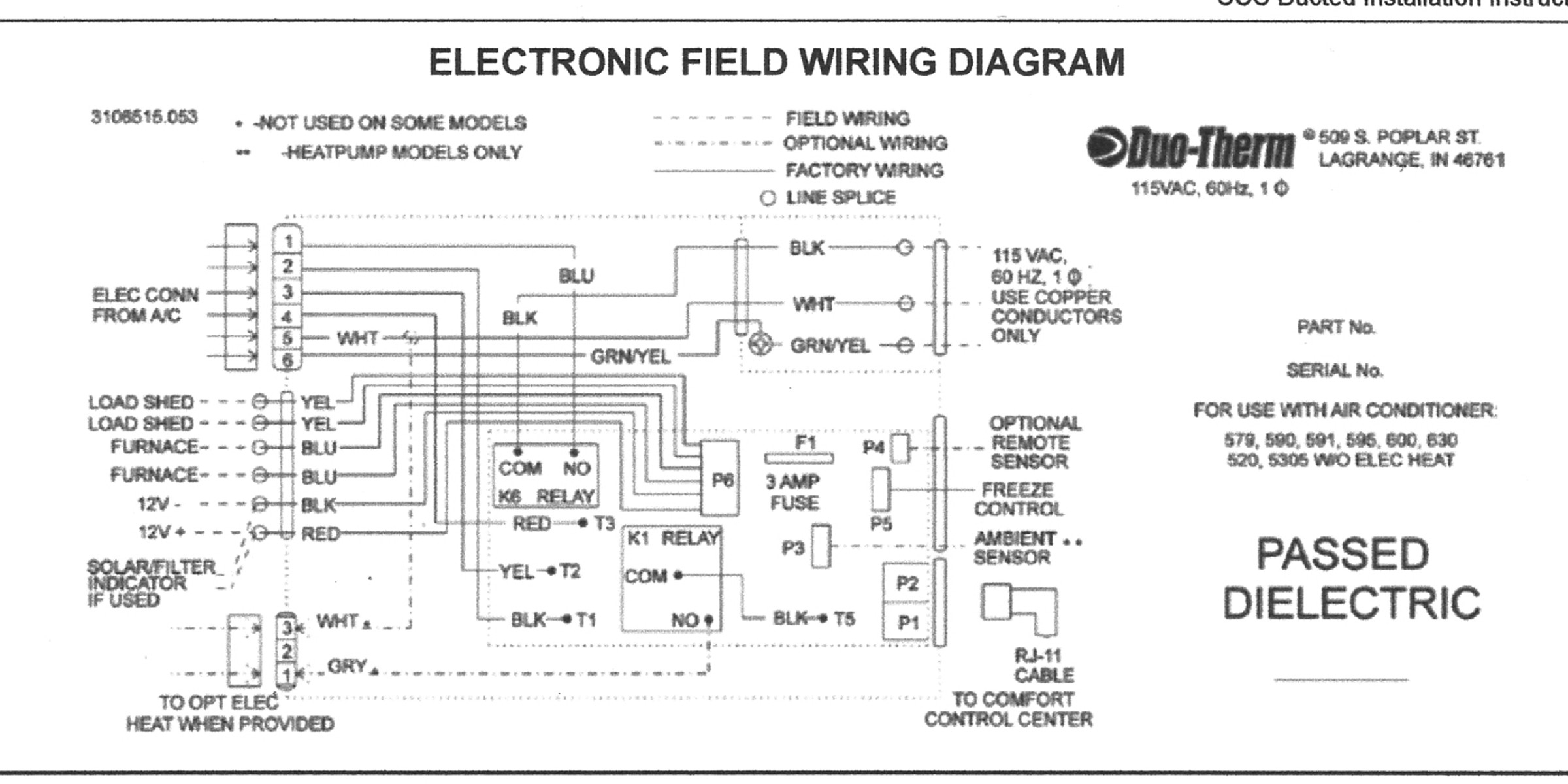 Find Out Here Air Conditioner Thermostat Wiring Diagram Download