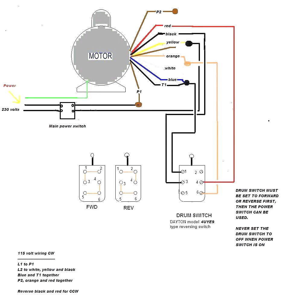Baldor 115 Volt Motor Wiring Diagram - Wiring Diagram Name on