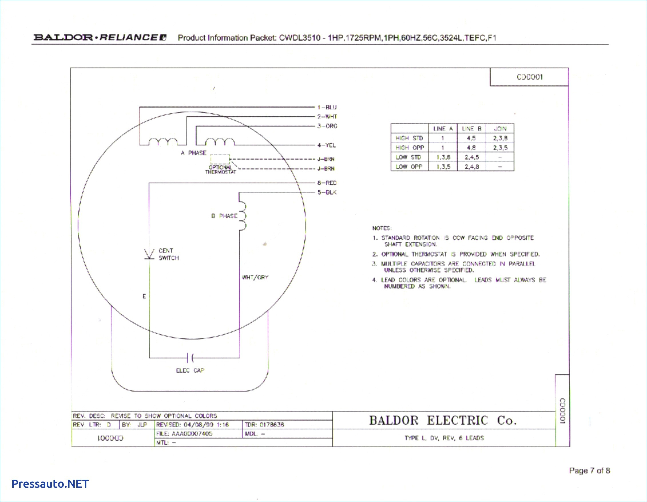 baldor l1410t wiring diagram Download-Wiring Diagram For Electric Motor With Capacitor Best Awesome Baldor 19-r