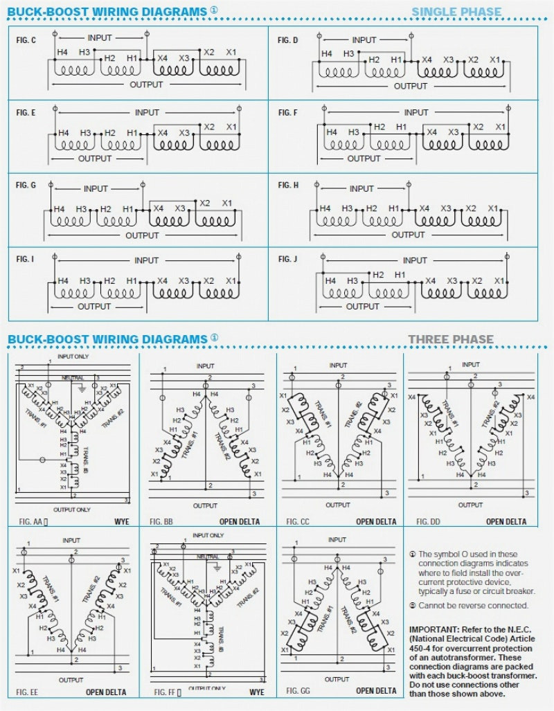 Get Buck Boost Transformer 208 To 240 Wiring Diagram Sample