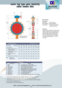 Butterfly Valve Wiring Diagram - Wafer Lug Type Gear Operated butterfly Valve 8f