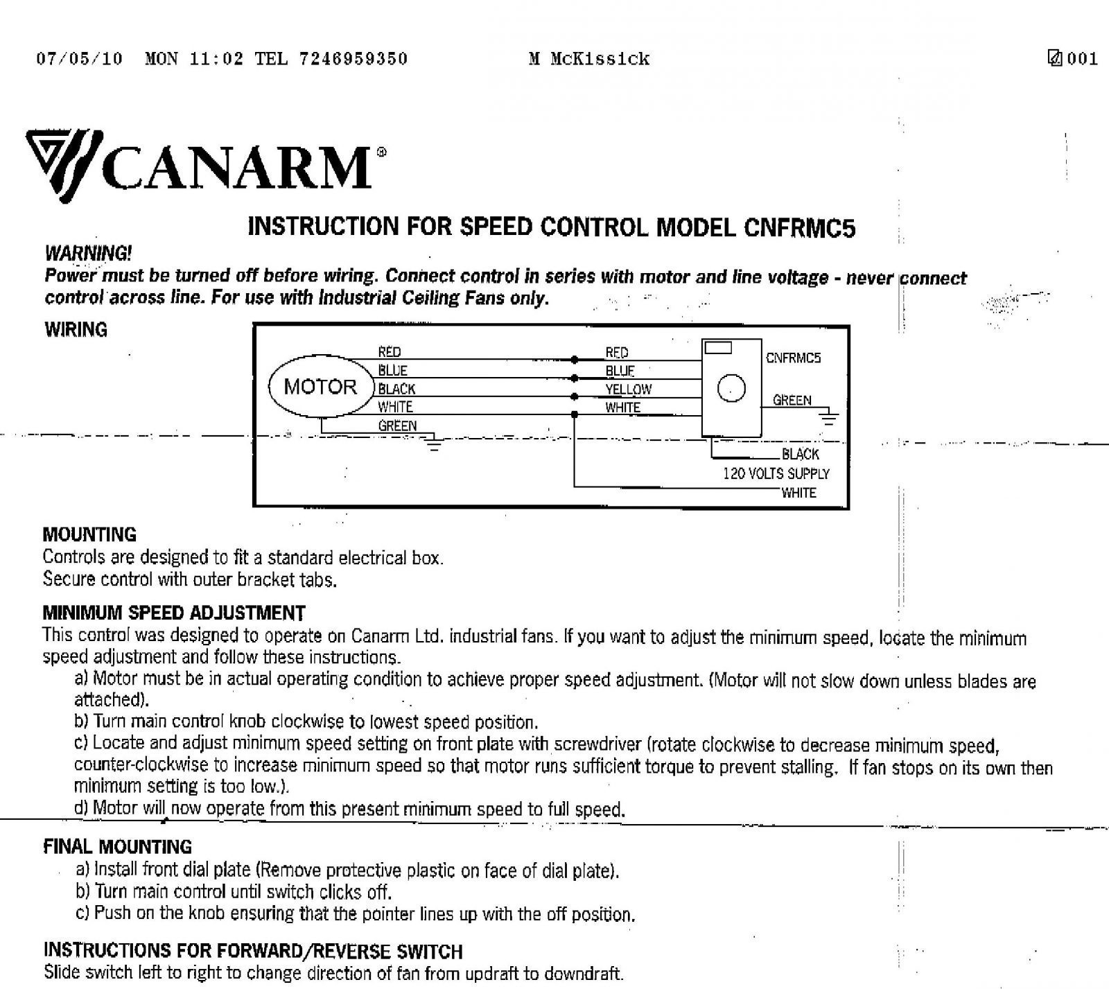 Gallery Of Canarm Ceiling Fan Wiring Diagram Download