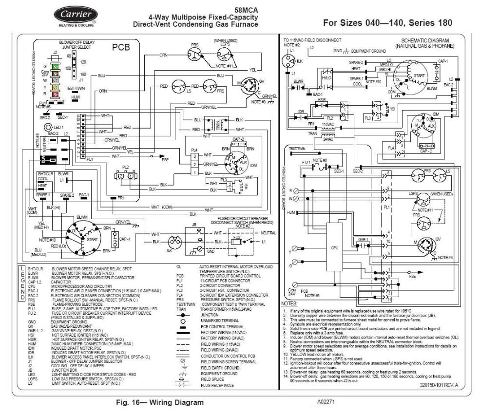 Gallery Of Carrier Furnace Wiring Diagram Download