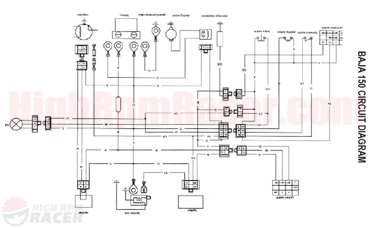 Chinese Dirt Bike Wiring Diagram