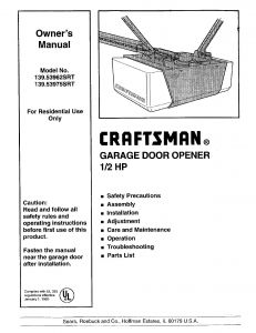 Craftsman Garage Door Opener Wiring Diagram - Lovely Craftsman 1 2 Hp Garage Door Opener Manual 80 Creative Ideas Sears Craftsman Garage 14t