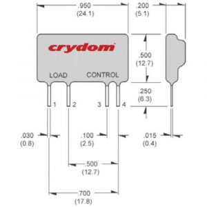 Crydom D2425 Wiring Diagram - Wiring Crydom aso242 solid State Mini Sip Pcb Load Relay From Conrad On Pilz Relay 20g