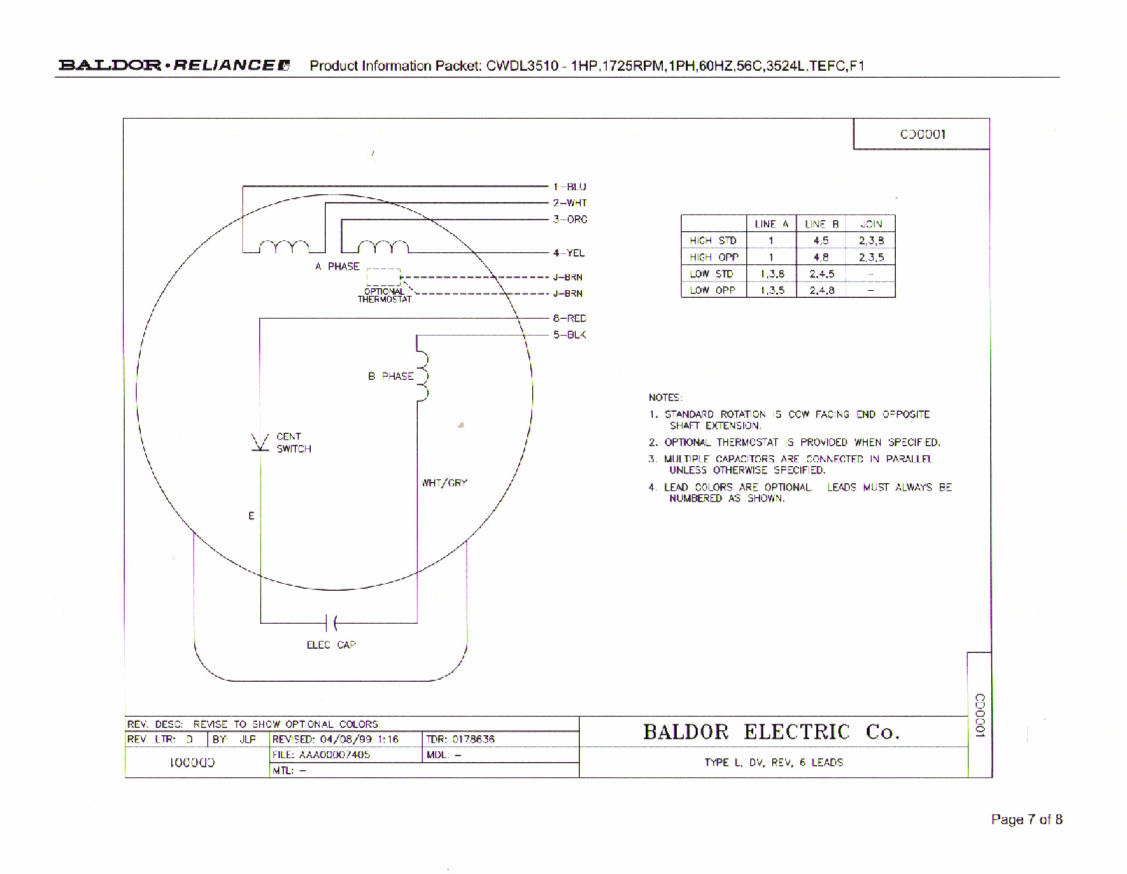Dayton Electric Motor Wiring Diagram