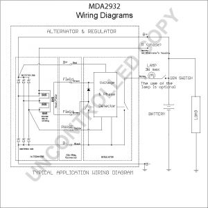 Delco 12si Alternator Wiring Diagram - Mda2932 Wiring Diagram 6h
