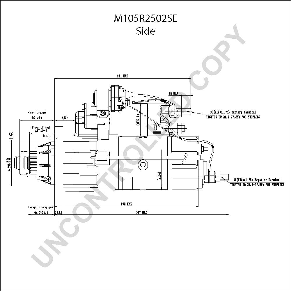 delco remy starter wiring diagram Collection-M105R2502SE Side Dim Drawing Output Curve M105R2502SE Output Curve Wiring Diagram 3-s