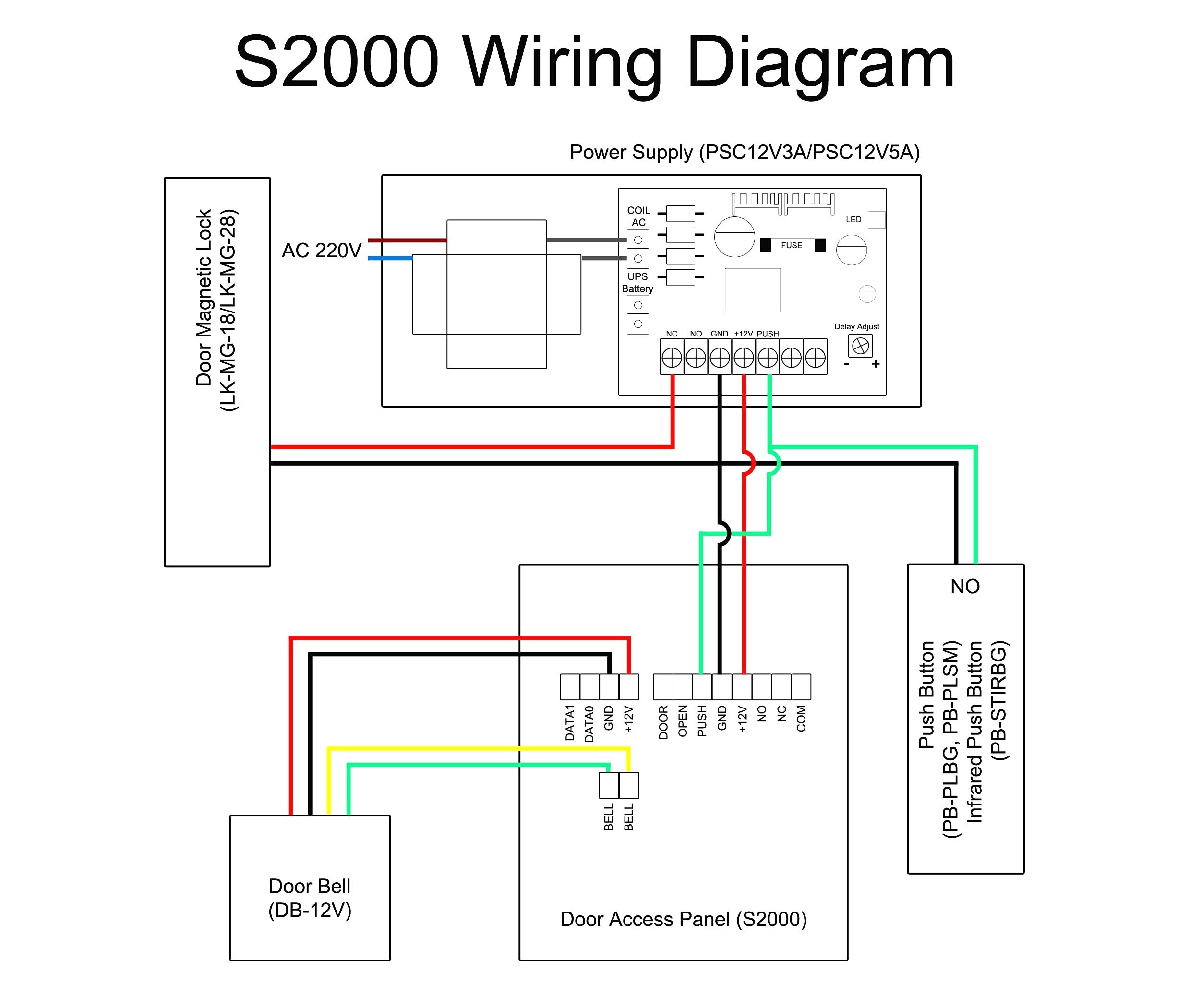 door access control wiring diagram Collection-Wiring Diagram Security System Best Wiring Diagram for Electric Door Bell Fresh Bunker Hill Security 3-l