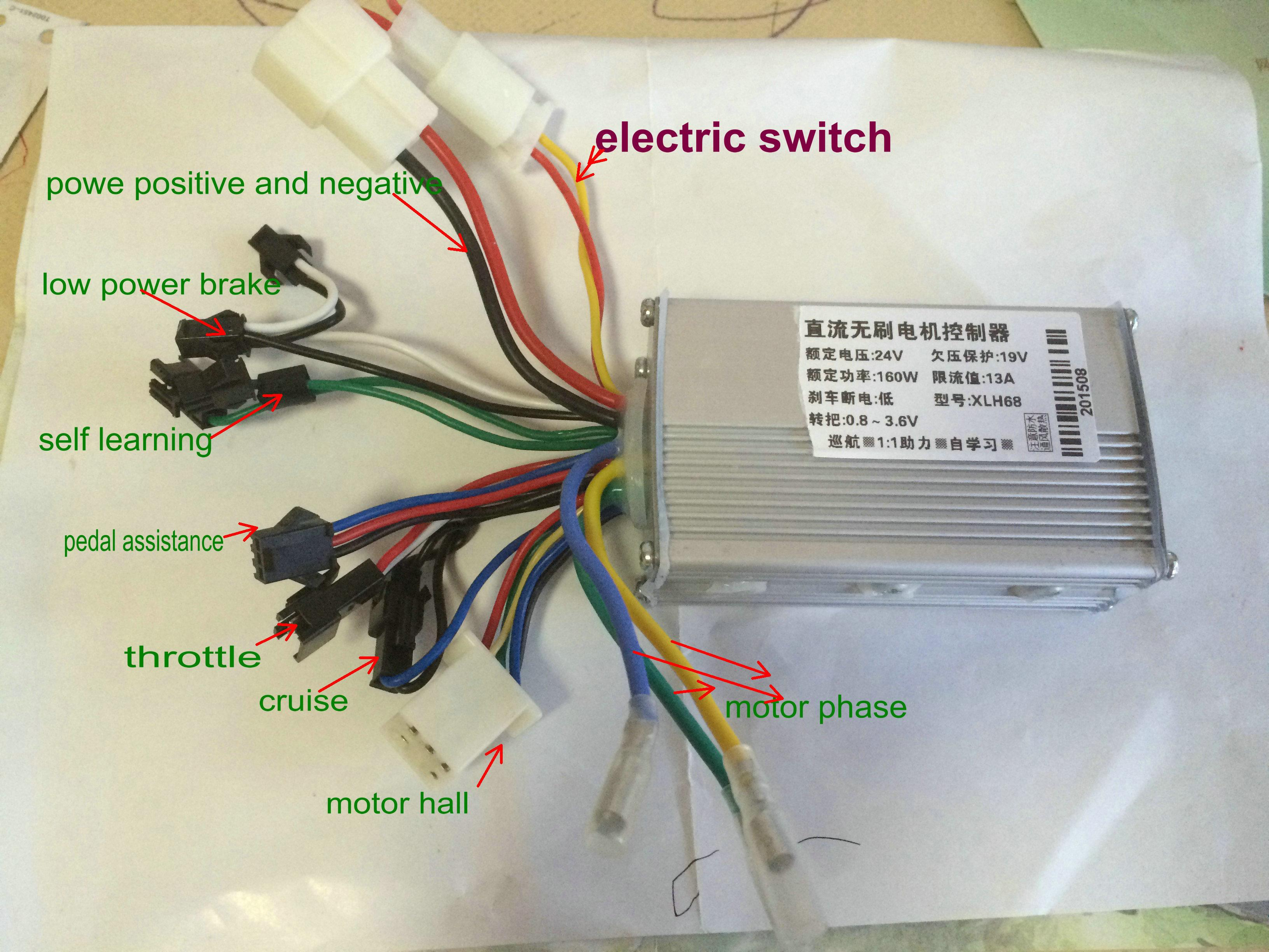 e bike controller wiring diagram Collection-2018 24v36v48v 250w350w Bldc Motor Speed Controller 6 Mosfet Dual Mode Electric Bike Mtb Tricycle Scooter Moped Conversion Part From Phoebeqxvehiclesport 13-g