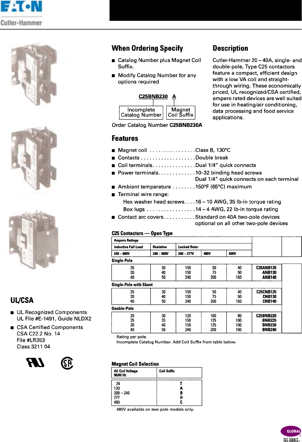 Eaton C25 Contactor Wiring Diagram Electrical Schematics Ecl03c1a9a Lighting C25bnb230a Download C25dnx230a