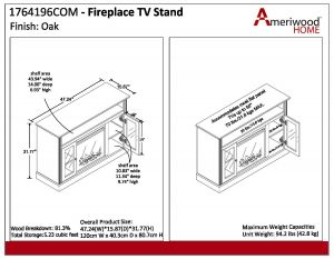 "Electric Fireplace Wiring Diagram - Ameriwood Home Chicago Electric Fireplace Tv Console for Tvs Up to A 50"" Multiple Colors Walmart 9r"