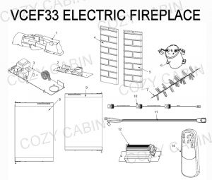 Electric Fireplace Wiring Diagram - Electric Fireplace Vcef33 7c