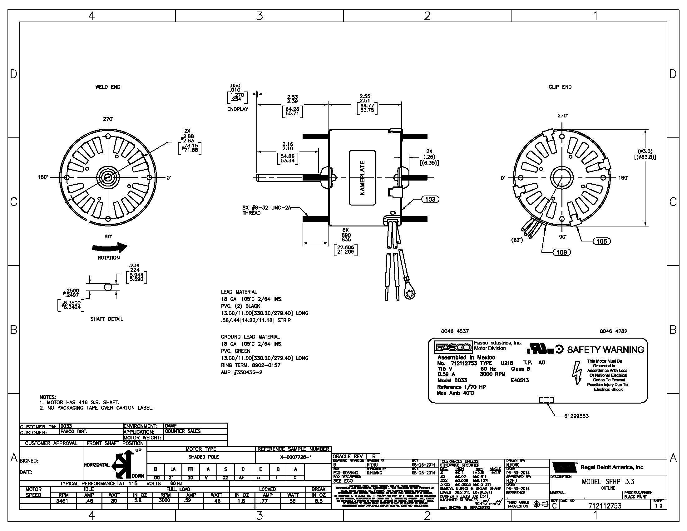 Fasco Motor Wiring Diagram Wiring Diagram Sample Signal Light Wiring Diagram  Emerson Electric Motors Wiring Diagrams