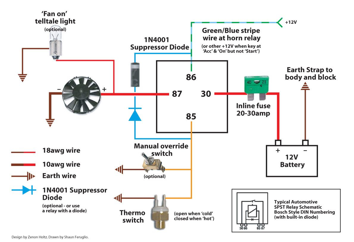 flex a lite electric fan wiring diagram Download-Electric Fan Wiring Diagram Also Here Is The I Used With For 10-f