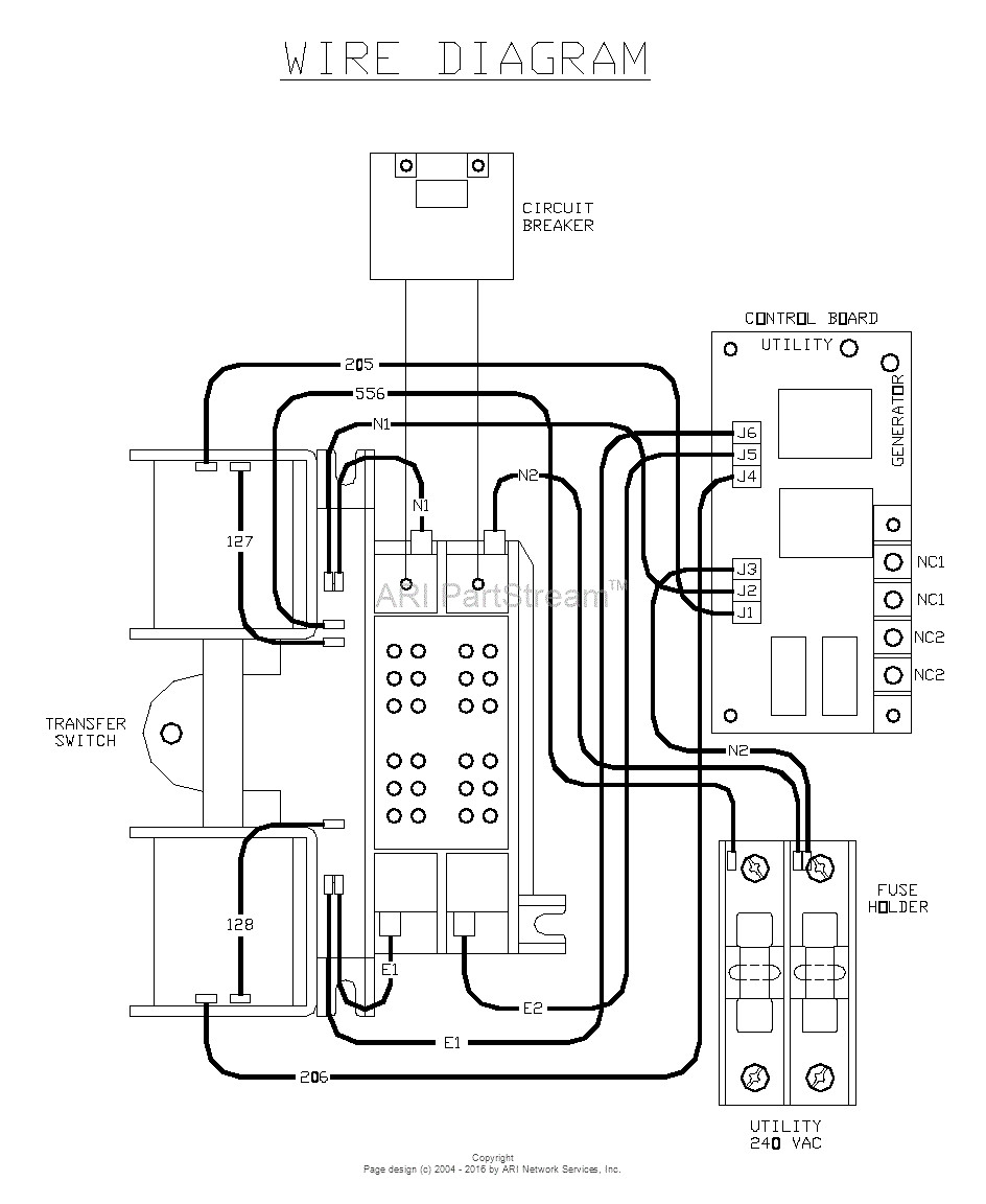 Gallery Of Generac 6333 Wiring Diagram Sample