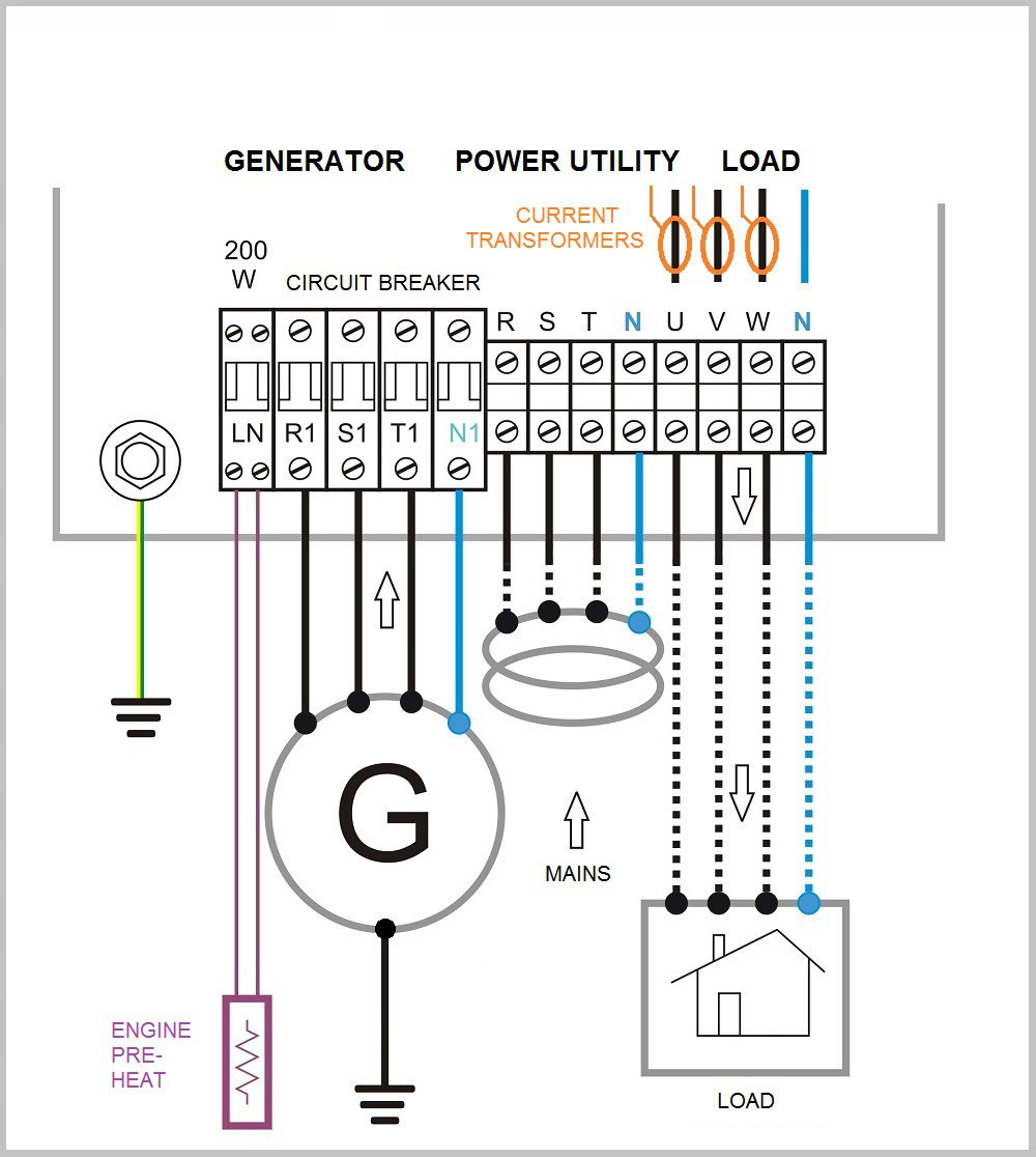 generator changeover switch wiring diagram Download-Generator Automatic Transfer Switch Wiring Diagram Generac with Wiring Diagram for Generator Plug Save Awesome 4-j