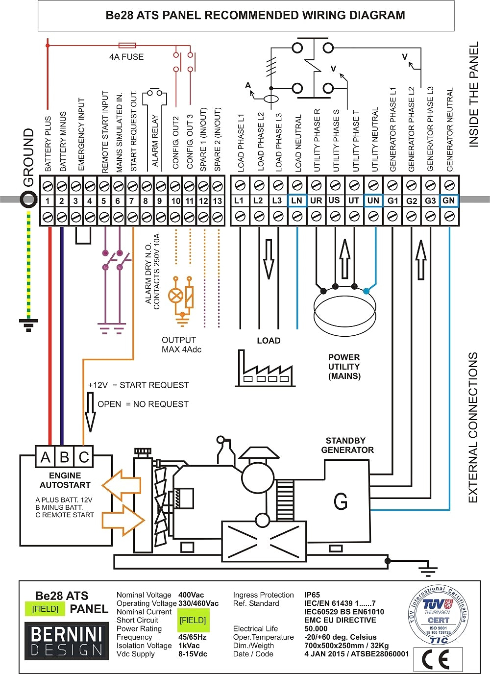 on a wiring diagram for generator