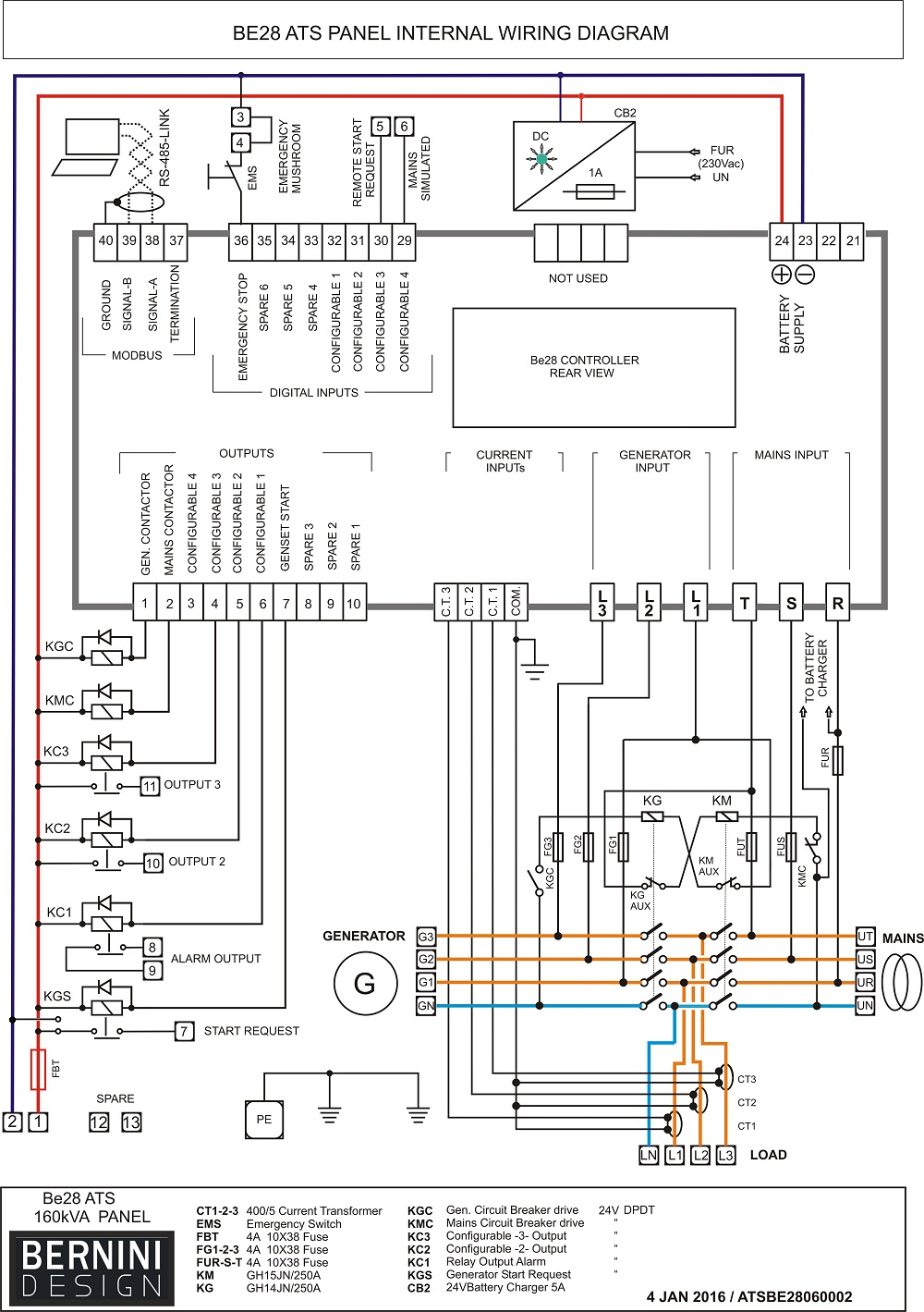 Gallery Of Generator Control Panel Wiring Diagram Pdf Download