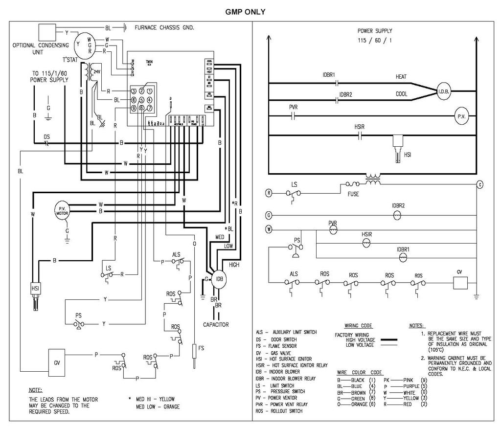 goodman gmp075 3 wiring diagram electrical wiring diagram guide Goodman Gas Electric Fan Relay