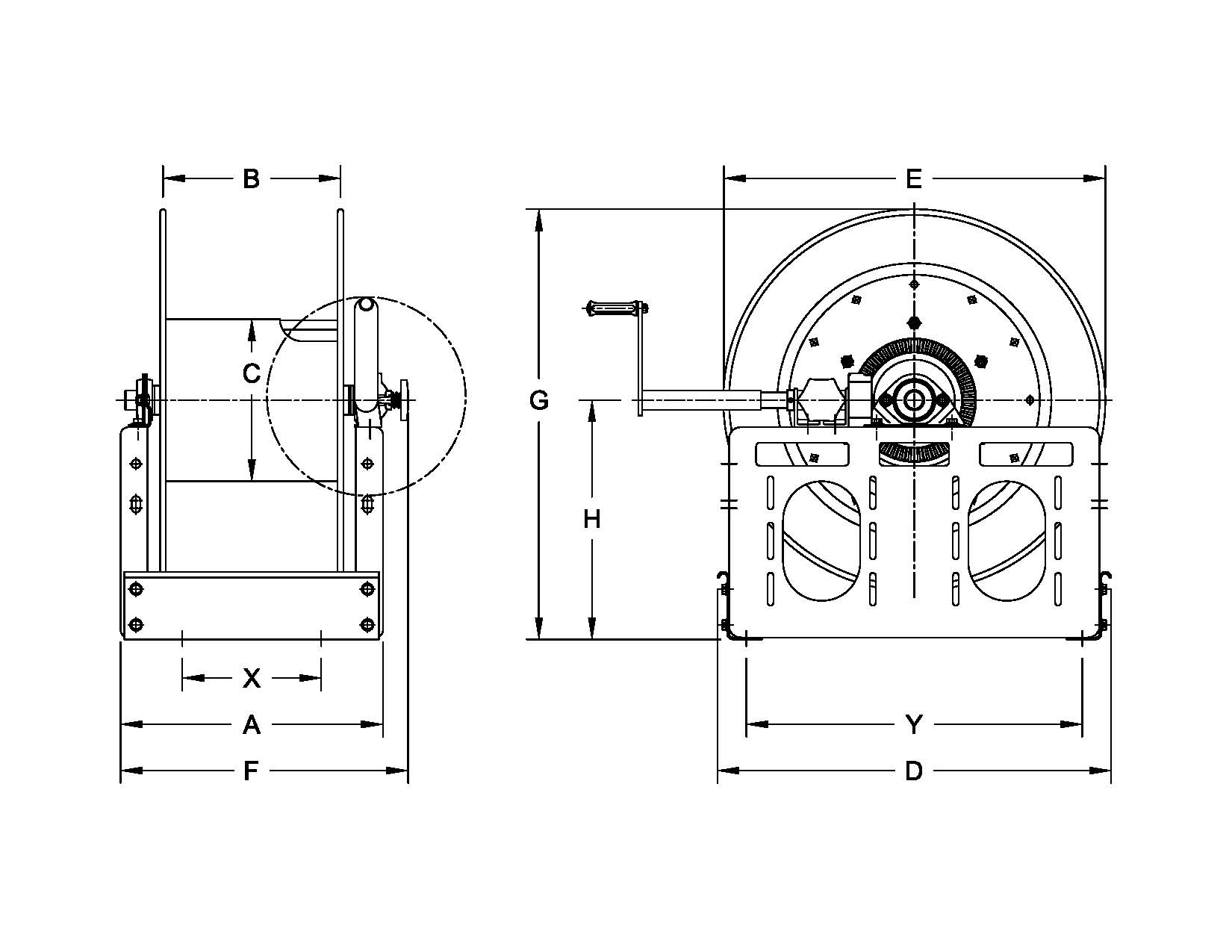 hannay reels wiring diagram Download-Reel Capacity 17-t