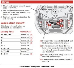 Honeywell Manual thermostat Wiring Diagram - Honeywell thermostat Wiring Instructions Diy House Help Stuning Rth6350d 6h