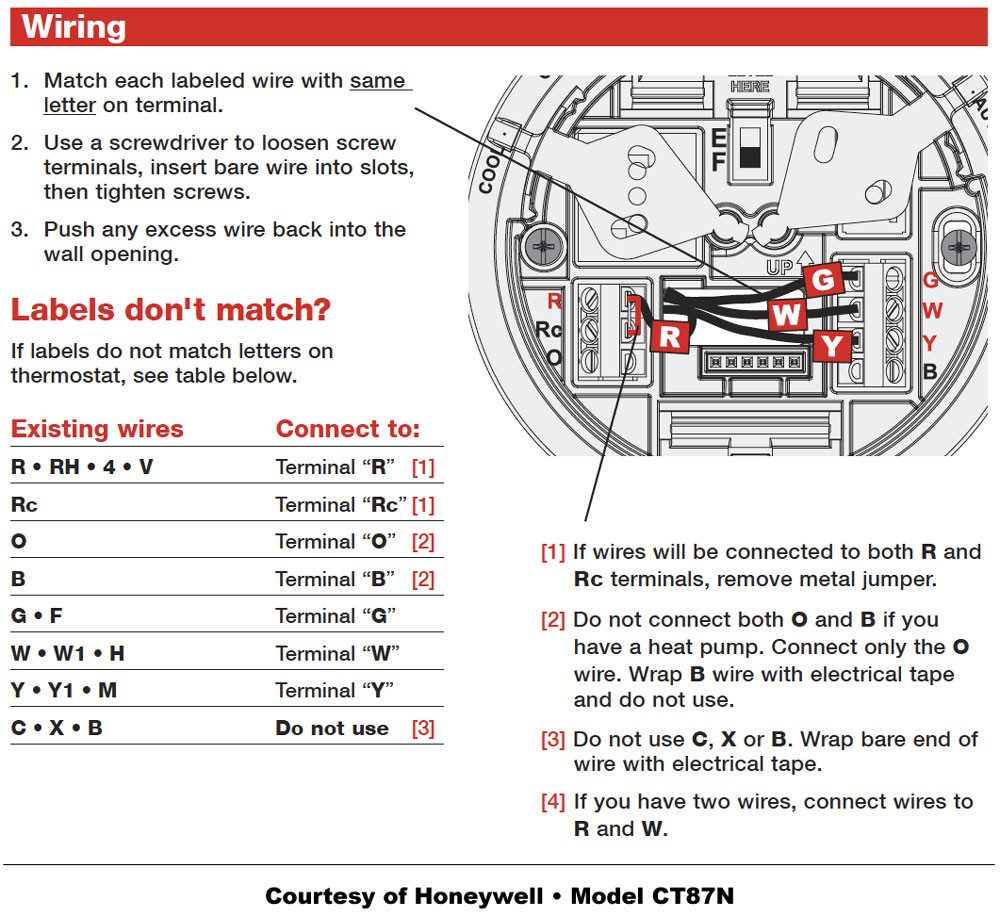 Question Regarding A Honeywell Thermostat Wiring The New Manual Guide