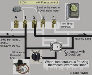 Intermatic Timer T104 Wiring Diagram - Collection T104m Timer Wiring Diagram White Neutral Wire How to Intermatic T104 and T103 T101 Timers 5p