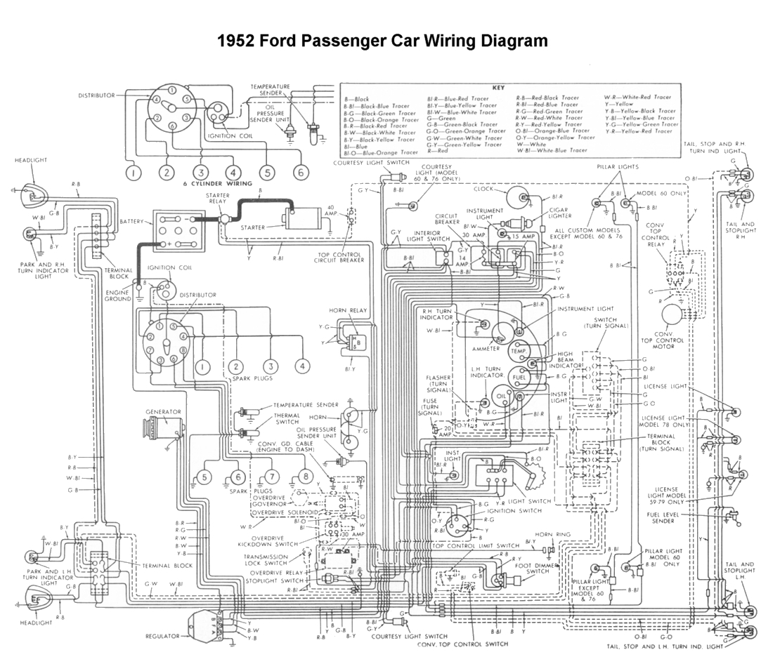 international truck wiring diagram Collection-Wiring for 1952 Ford Car 19-f