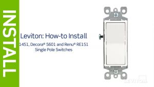 Leviton 3 Way Motion Switch Wiring Diagram - Leviton Presents How to Install A Single Pole Switch 20e