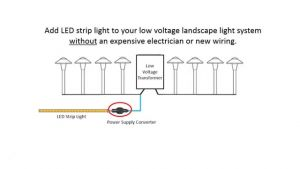 Low Voltage Lighting Wiring Diagram - Installing Led Strip Lights with Your Low Voltage Landscape Light for Outdoor Lighting Wiring Diagram 19a