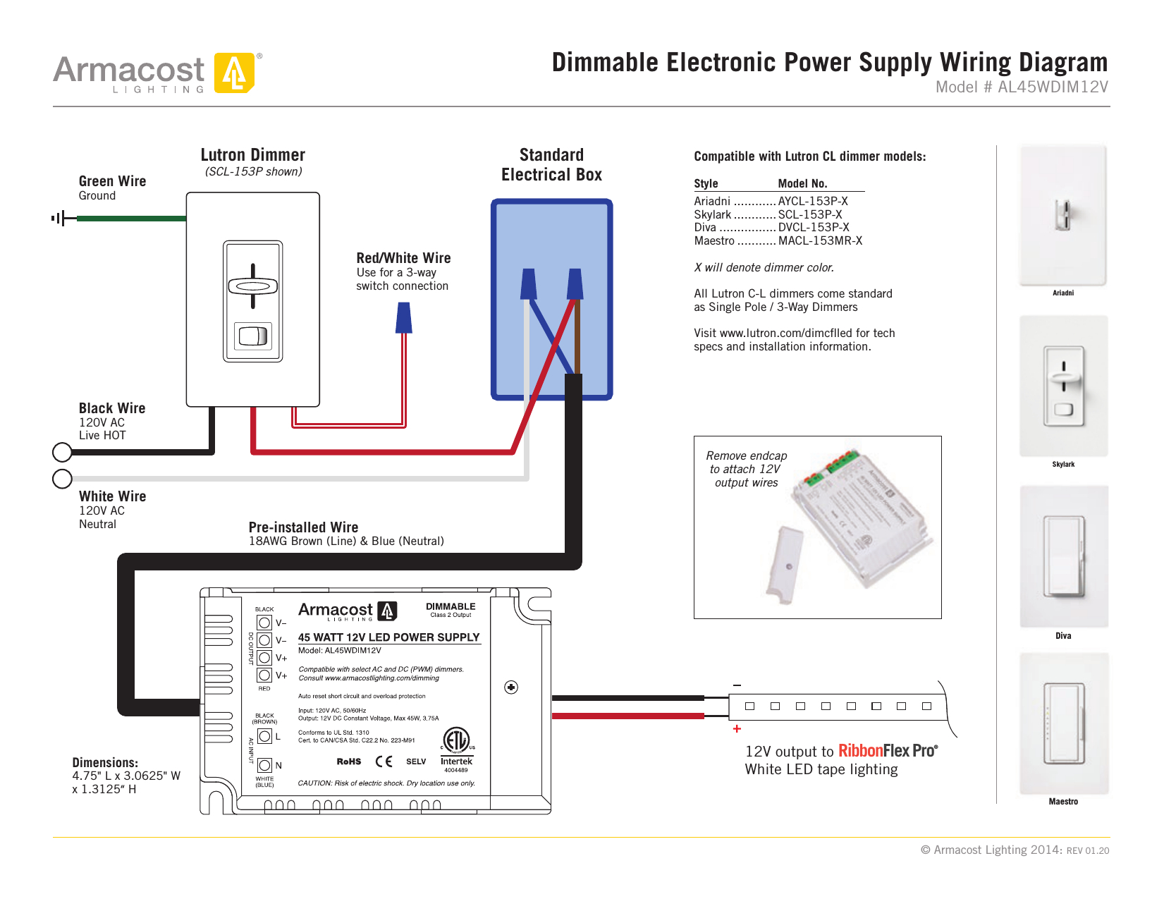 Get Lutron Diva 3 Way Dimmer Wiring Diagram Download