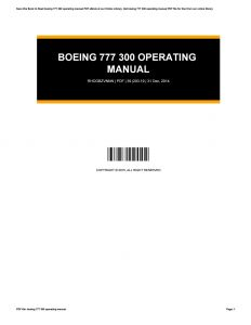 Magnetek 6409 Wiring Diagram - Array Boeing 777 300 Operating Manual by Cynthialewis2154 issuu Rh issuu 16c