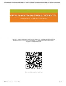 Magnetek 6409 Wiring Diagram - Boeing B777 Flight Crew Training Manual Array Aircraft Maintenance Manual Boeing 777 by Brendamann2129 issuu Rh issuu 10n