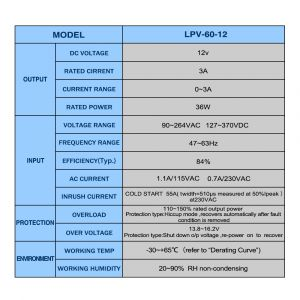 Mean Well Lpv 60 12 Wiring Diagram - Mean Well Lpv 60 12 Power Supply torchstar Meanwell Led Driver Wiring Diagram 15e