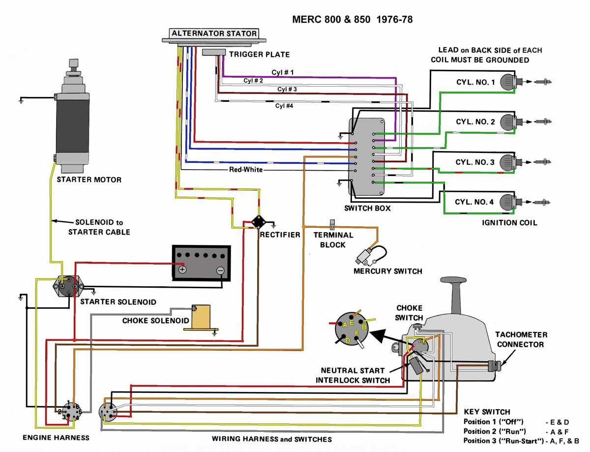 mercury trim motor wiring diagram Collection-1995 Mercury Outboard 60 Hp Wiring Harness Diagram line 9-c