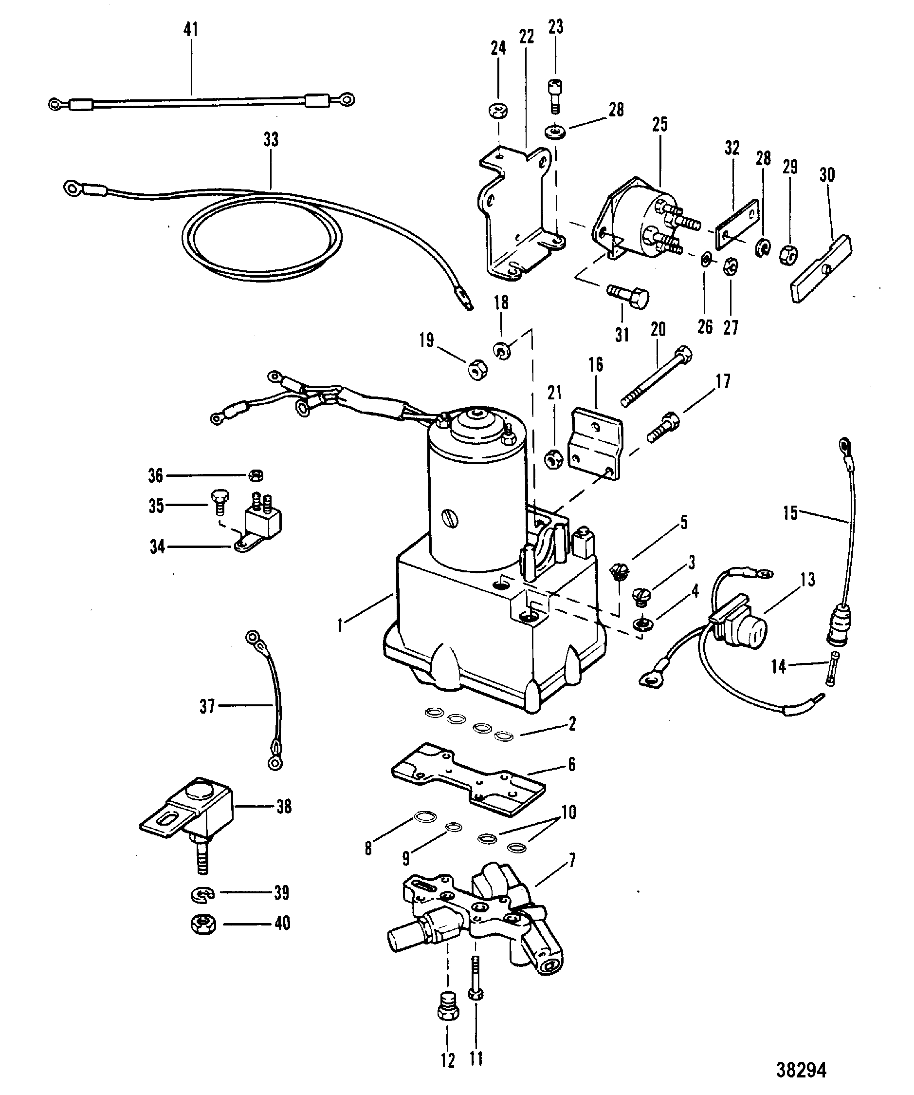 Gallery Of Mercury Trim Motor Wiring Diagram Sample
